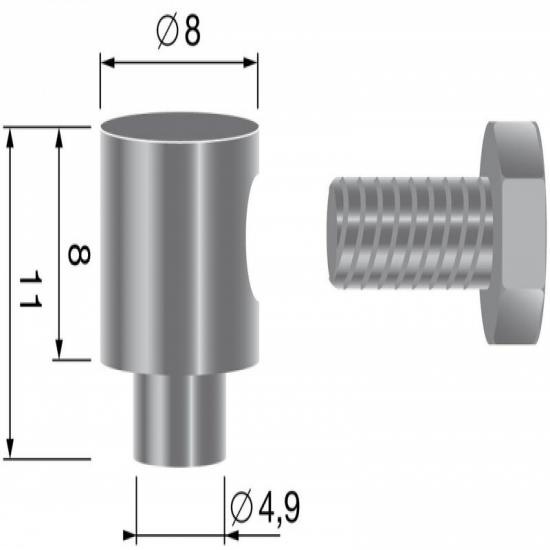 Connection clamp, for cables up to ¯ 2,5mm.
