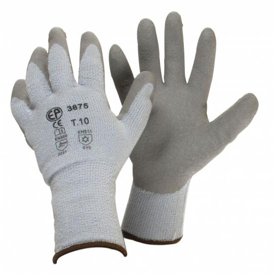 Pair latex wintergloves, protection against cold and humid environments, waterproof, Size 9 (M).