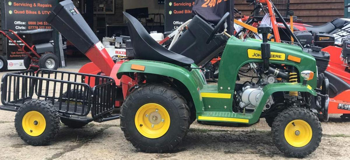 John Deere 110cc junior ride-on tractor sold to customer in Henley-on-Thames, Oxfordshire