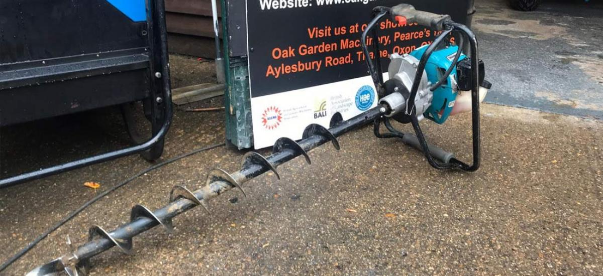 Post hole borer hired for planting project in Oxfordshire
