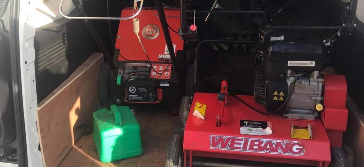Scarifier and Aerator delivered for two day hire in Abingdon, Oxfordshire