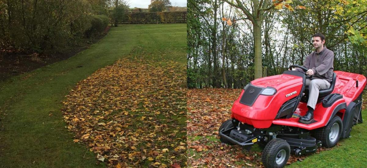Demo of Countax tractor with Power Grass Collector in Abingdon, Oxfordshire