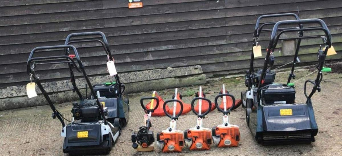 Garden machinery serviced for local housing authority, Buckinghamshire