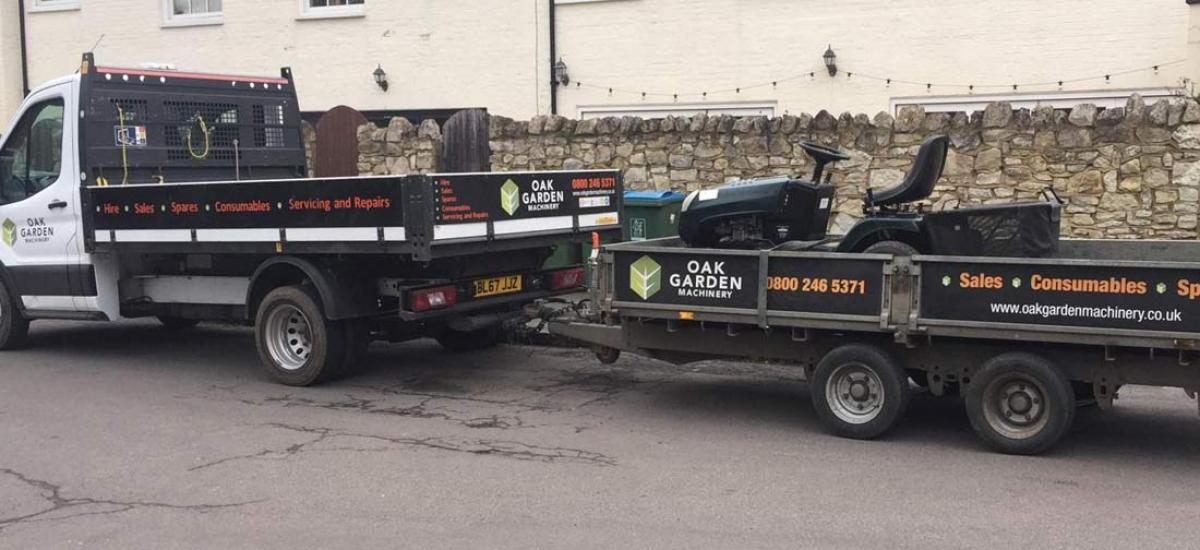 Hayter Harrier ride on mower delivered to Long Crendon, Oxfordshire
