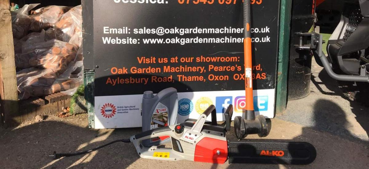 AL-KO chainsaw and fence maul sold to customer in Haddenham, Buckinghamshire