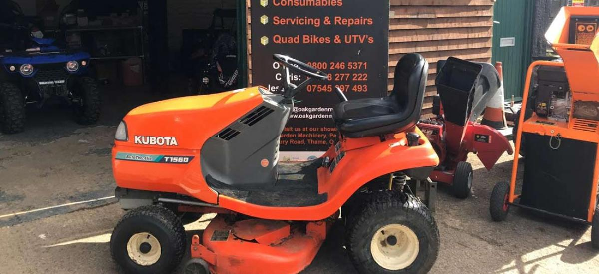 Kubota Ride-On Mower serviced for customer in Thame, Oxfordshire