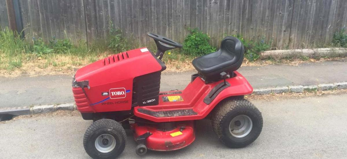 Toro lawn tractor repaired and returned to customer in Headington, Oxfordshire