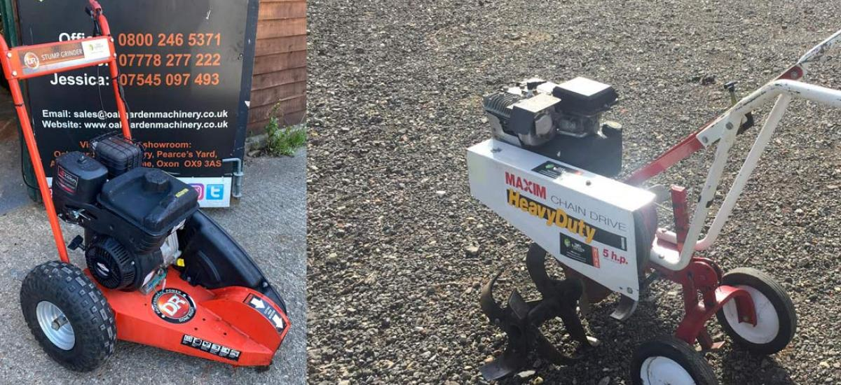 Ex-demo stump grinder sold and rotavator hired this weekend in Oxfordshire