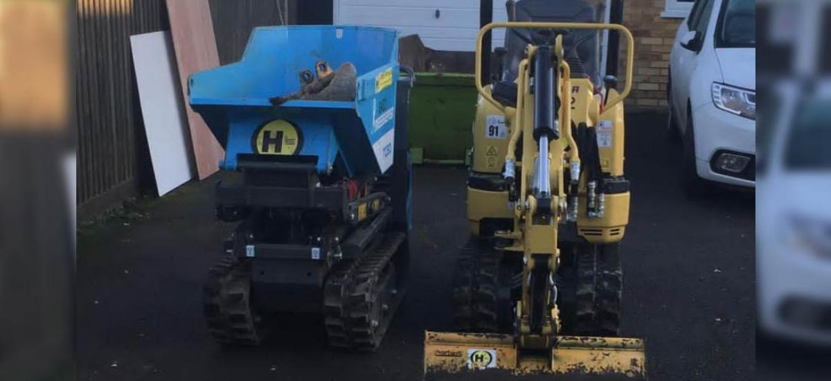MIcro digger and dumper hire in Aylesbury, Buckinghamshire