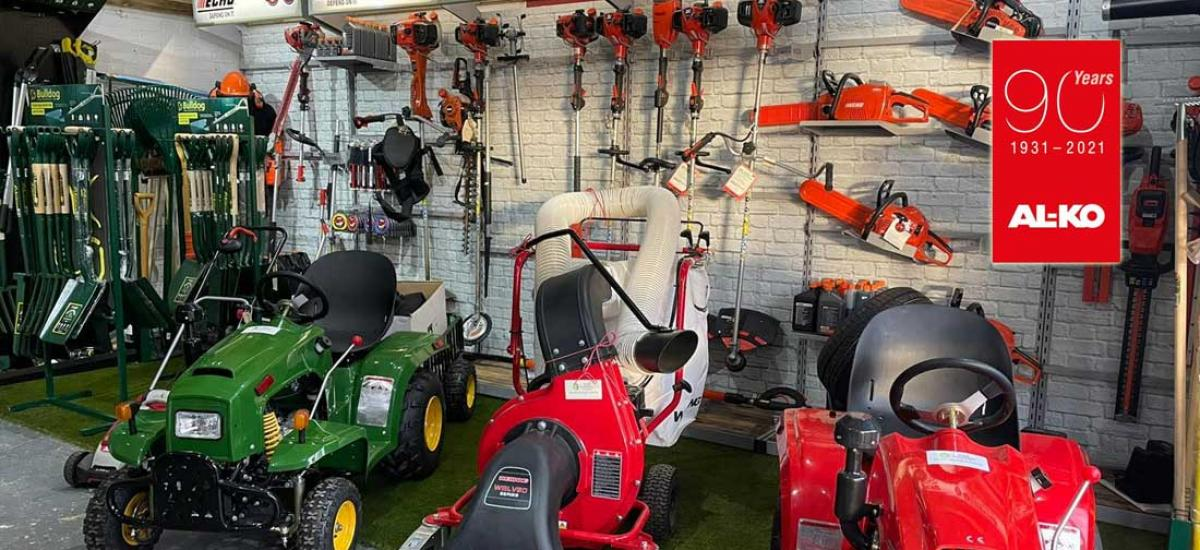 View the AL-KO garden machinery range at our showroom near Thame, Oxfordshire
