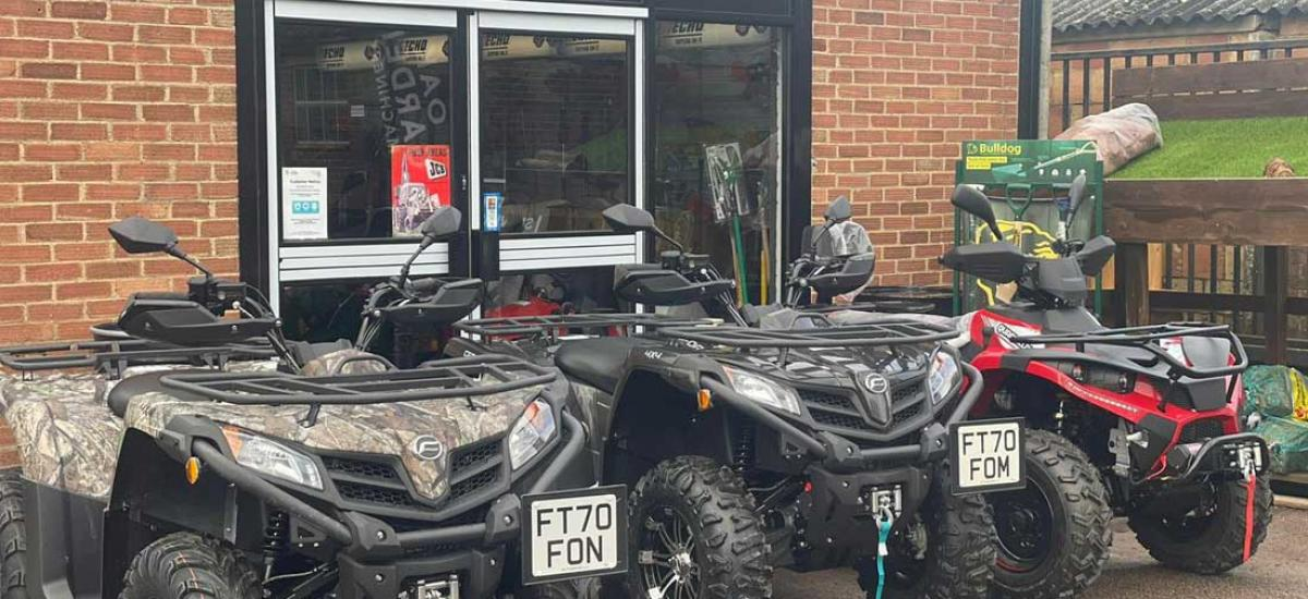 Large selection of Quads and ATVs in stock and in store
