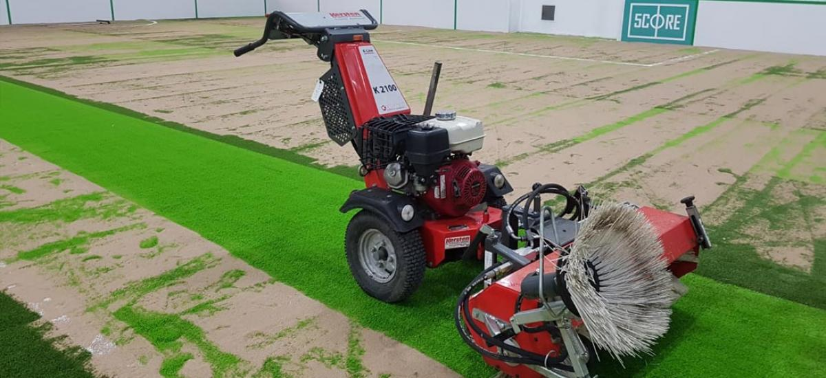 Sweeper hire for artificial grass pitch in Bicester, Oxfordshire