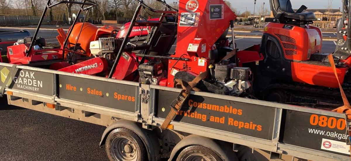 Busy time for garden and construction machinery hire - book early