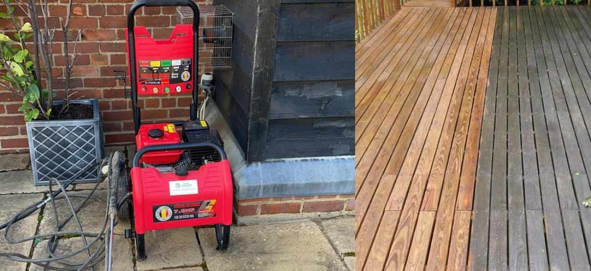 Hire a powerful jet washer to get your outside space properly cleaned