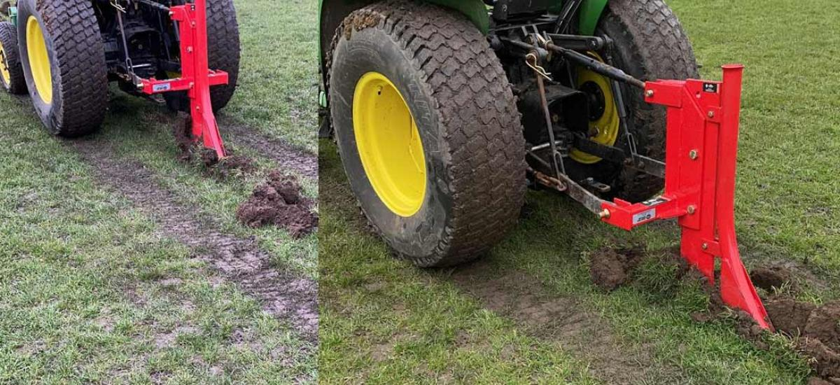 Tractor and water pipe laying attachment hired to sports facility in Buckinghamshire
