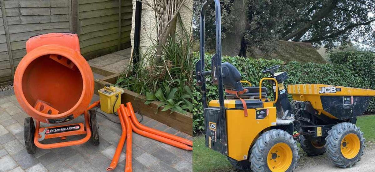 Construction and building machinery hire across Bucks and Oxon