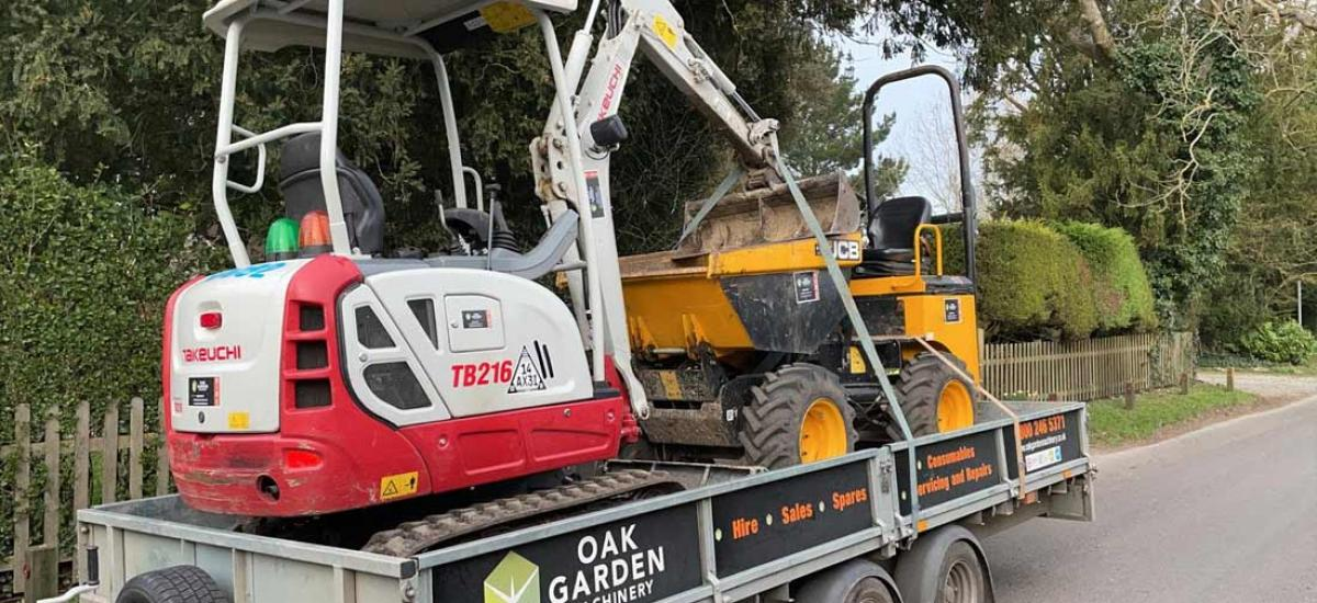 Digger and dumper hire - the perfect combination for any big project