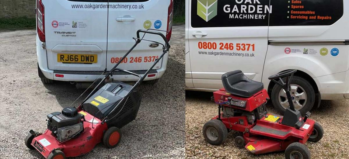 Busy time for lawn mower service and repair at Oak Garden Machinery