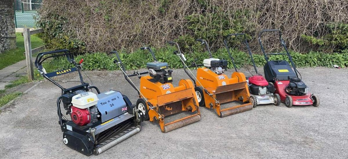 Range of lawn mowers serviced for bowling club in Oxfordshire