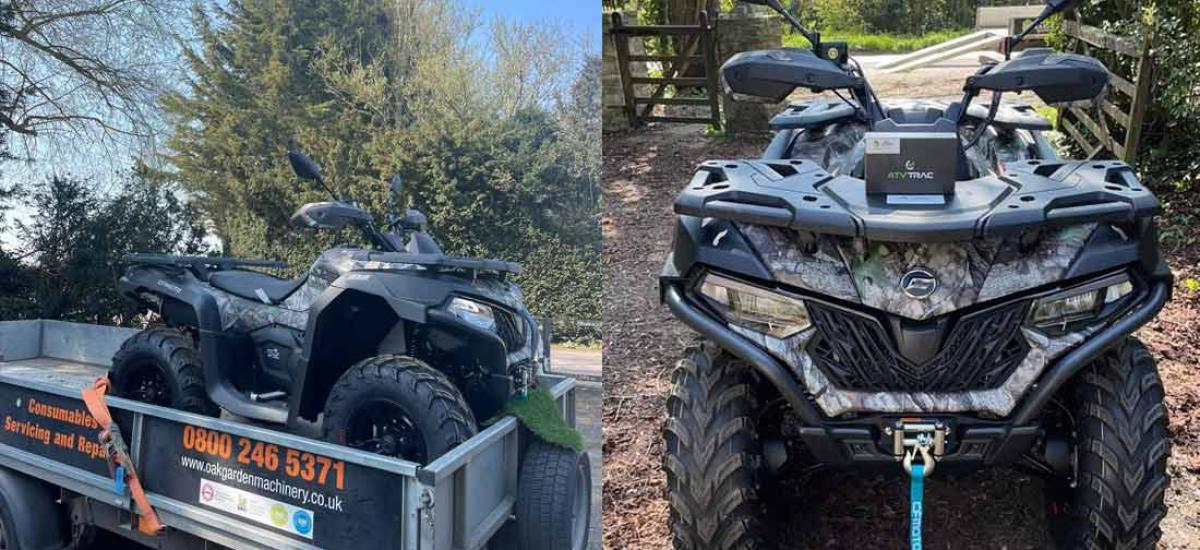 Quadzilla with ATVTRAC fitted and delivered to customer in Witney, Oxfordshire