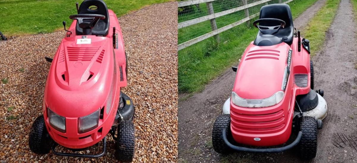 Lawn tractor servicing with collect and return service in Oxfordshire