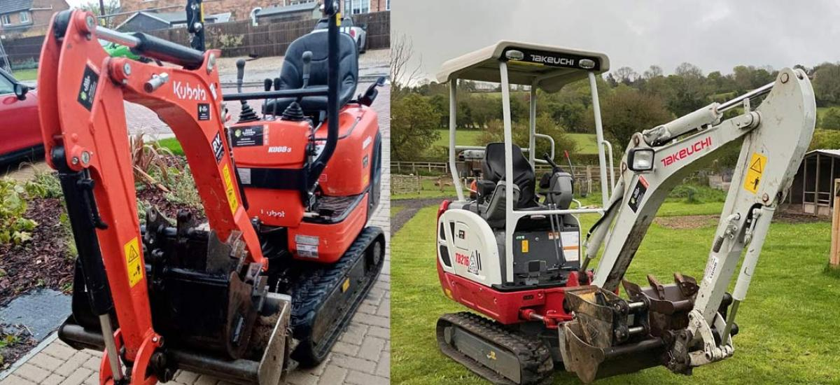 Quality mini-digger hire across Buckinghamshire and Oxfordshire