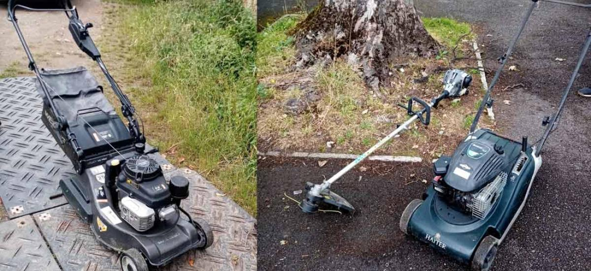 We service and repair all makes of lawn mower and garden machinery