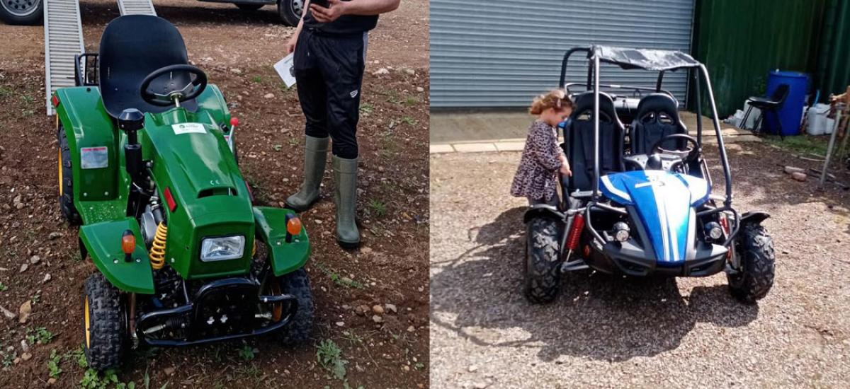Great selection of tractors and buggies for kids - in stock now