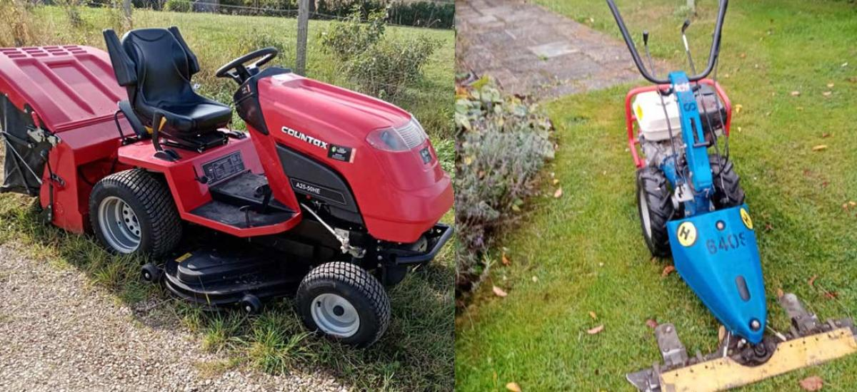 Lawn cutting machinery for sale or hire across Oxon and Bucks