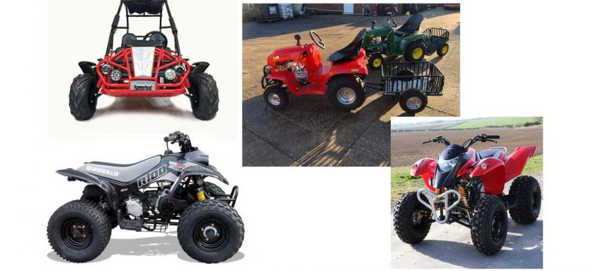 New limited stock of buggies and tractors at our showroom in Oxfordshire