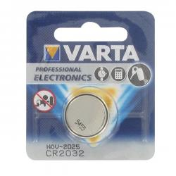 Blister coin cell battery VARTA 3V lithium CR2032.