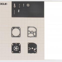 Repair kit for STIHL models BG45, BG65, BG85, HT75, HL75, PH75, FC75, HS81, HS86.