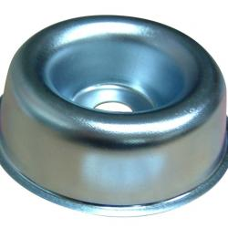 Cup metal, center hole: 14mm, ¯: 82mm, H: 25mm