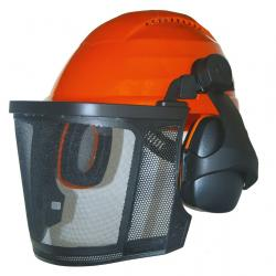 Forestry helmet - nylon mesh, ear protectors 26dB, anti-sweating band.