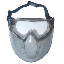 Safety glasses + protective mask.