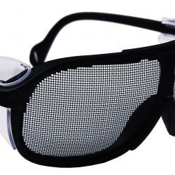 Mesh safety glasses.