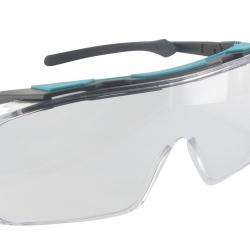 Protective overglasses for use in combination with corrective glasses.
