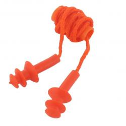 Blister packaging 10 pair reusable foam ear plugs with rope