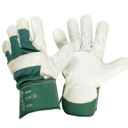 Pair leather gloves, Size 10/L.