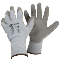 Pair latex wintergloves, protection against cold and humid environments, waterproof, Size 10 (L).