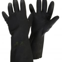 Pair nitril gloves/ neoprene and latex, coton coated inside, for handling liquids and chemical products.