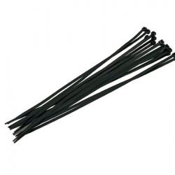 Black Cable Ties - 16pc 4.8 x 300mm