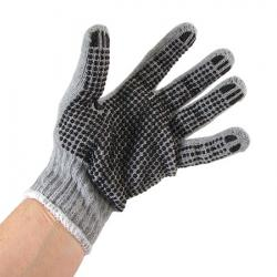 Knitted Gloves with PVC Dots - 9