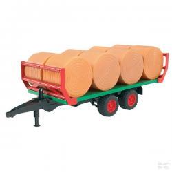 Roundbale trailer with 8 bales