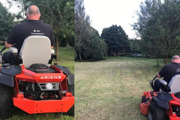 Demo of Ariens Zero Turn mower in Banbury, Oxfordshire