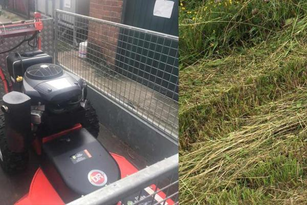 Brush mower hire for field clearance in Long Crendon, Oxfordshire
