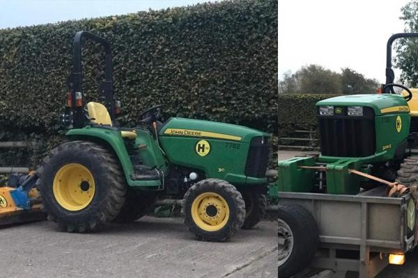 Tractor and Flail Mower Hire for customer in Stadhampton, Oxfordshire