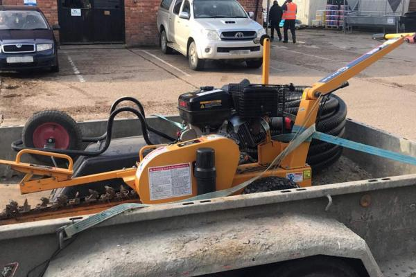 Trencher hire for laying oil pipes in Bicester, Oxfordshire