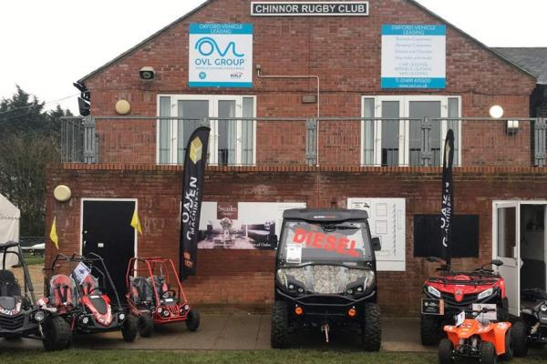 ATVs and buggies on show at Chinnor Rugby Club in Thame, Oxfordshire