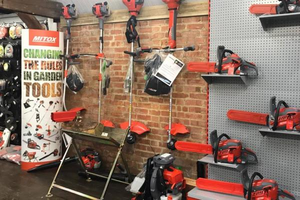 New range of Mitox blowers, trimmers and chainsaws in stock at our showroom in Thame, Oxfordshire